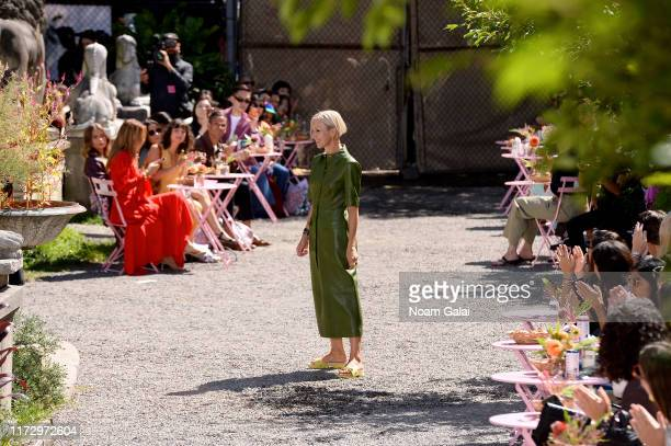 Creative Director Nicola Glass walks the runway for Kate Spade New York during New York Fashion Week at Elizabeth Street Gardens on September 07,...