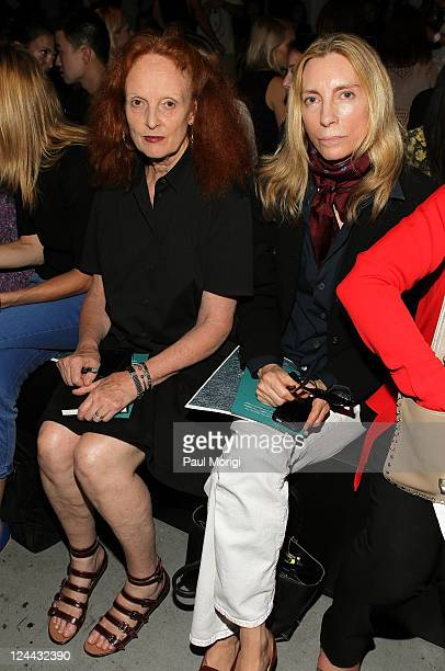 Creative Director of American Vogue Grace Coddington and Fashion Editor of American Vogue Virginia Smith attend the Rag Bone Spring 2012 fashion show...