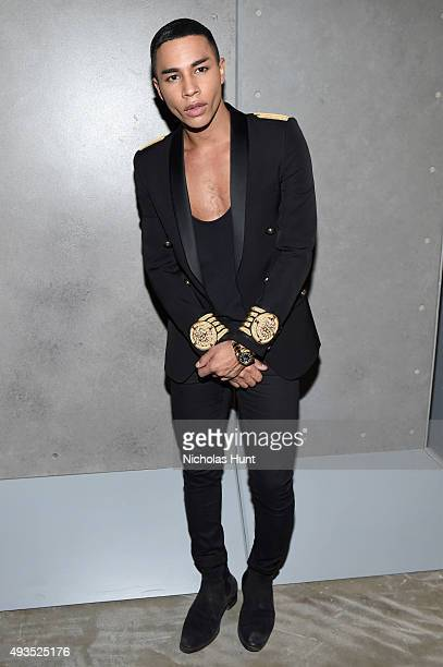 Creative Director of Balmain Olivier Rousteing attends the BALMAIN X HM Collection Launch at 23 Wall Street on October 20 2015 in New York City