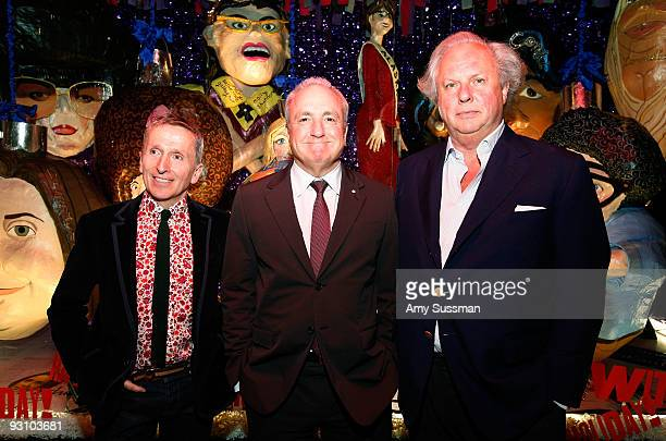 Creative Director of Barneys New York Simon Doonan creator of SNL Lorne Michaels and Vanity Fair editor in chief Graydon Carter attend the Barneys...