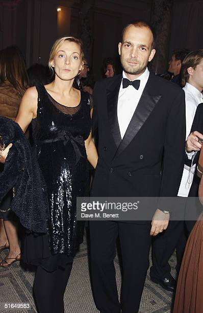 Creative Director of Chloe Phoebe Philo and artist Max Wigram attend the British Fashion Awards 2004 at the Victoria and Albert Museum on November 2...