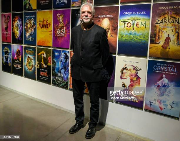 Creative director of Cirque du Soleil Neilson Vignola attends a press presentation of 'Totem Behind the Scenes of Cirque du Soleil' at the Disseny...