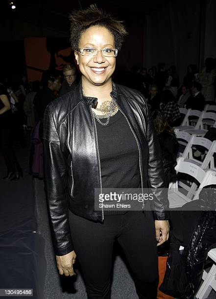 Creative Director of Ebony Magazine Harriet Cole attends Michael Angel Fall 2010 during MercedesBenz Fashion Week at Bryant Park on February 12 2010...