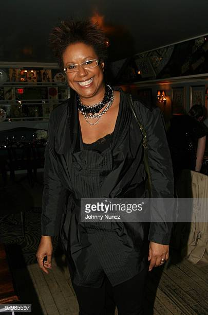 Creative director of Ebony magazine Harriet Cole attends the Rachel Roy Estelle jewelry launch on March 22 2010 in New York City