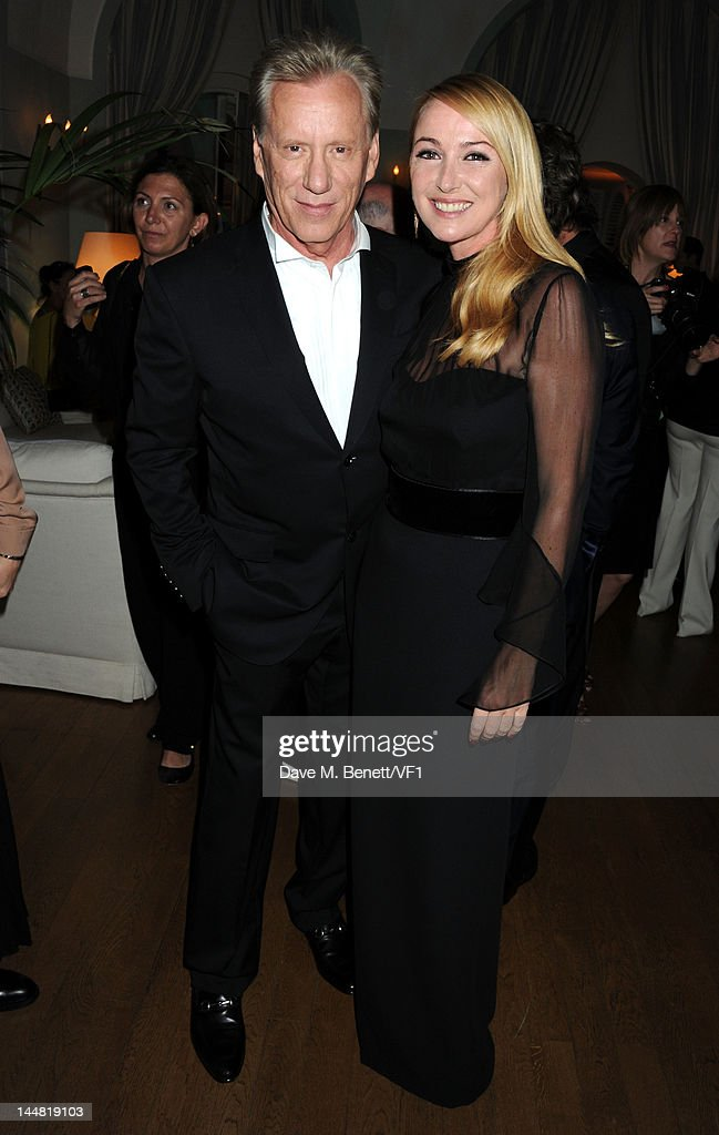 Creative director of Gucci Frida Giannini and actor James Woods (L) attends the Vanity Fair And Gucci Party during the 65th Annual Cannes Film Festival at Hotel Du Cap on May 19, 2012 in Antibes, France.