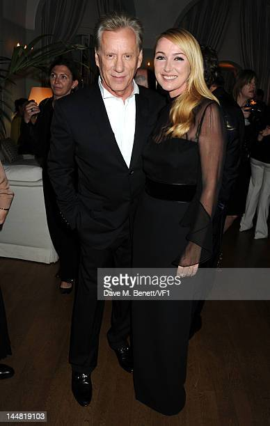 Creative director of Gucci Frida Giannini and actor James Woods attends the Vanity Fair And Gucci Party during the 65th Annual Cannes Film Festival...