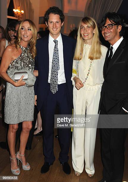CANNES FRANCE MAY 15 Creative director of Gucci Frida Giannini John Elkann Lavinia Borromeo and Gucci President Patrizio di Marco attend the Vanity...