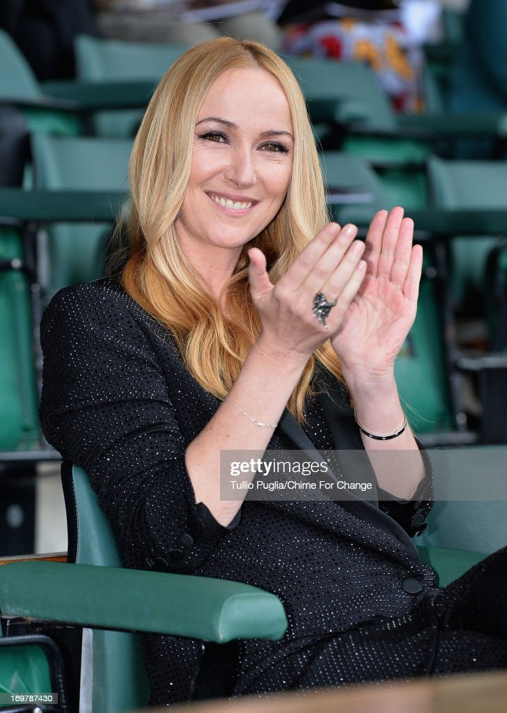 Creative Director of Gucci Frida Giannini poses inside the Royal Box at the 'Chime For Change: The Sound Of Change Live' Concert at Twickenham Stadium on June 1, 2013 in London, England. Chime For Change is a global campaign for girls' and women's empowerment founded by Gucci with a founding committee comprised of Gucci Creative Director Frida Giannini, Salma Hayek Pinault and Beyonce Knowles-Carter.