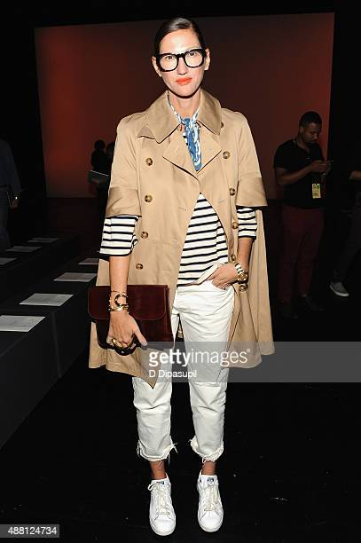 Creative director of J Crew Jenna Lyons attends Prabal Gurung Spring 2016 during New York Fashion Week The Shows at The Arc Skylight at Moynihan...
