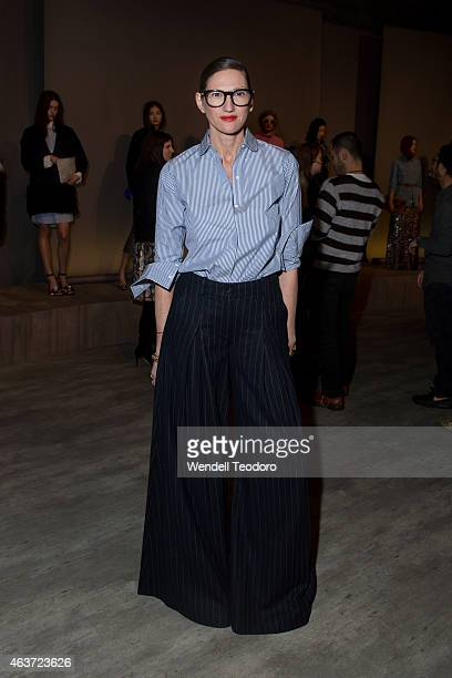 Creative director of JCrew Jenna Lyons attends the JCrew presentation during MercedesBenz Fashion Week Fall 2015 at The Pavilion at Lincoln Center on...