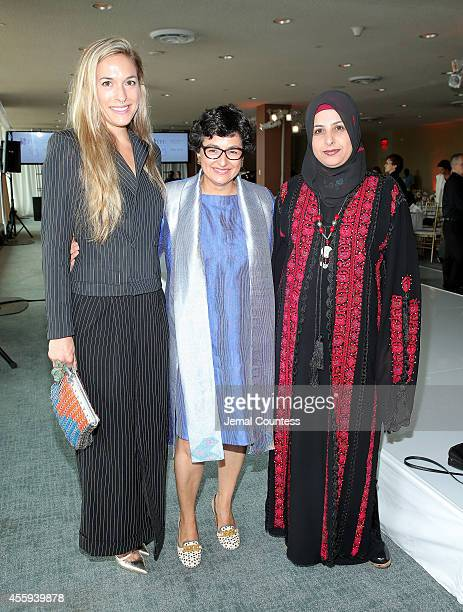 Creative Director of Malone Souliers Mary Alice Malone Executive Director of ITC Arancha Gonzalez and Founder of Palestinian Women for Embroidery...