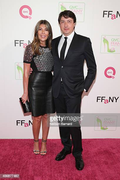 Creative Director of Marie Claire Nina Garcia and designer Gianvito Rossi attend QVC presents 'FFANY Shoes on Sale' at Waldorf Astoria Hotel on...