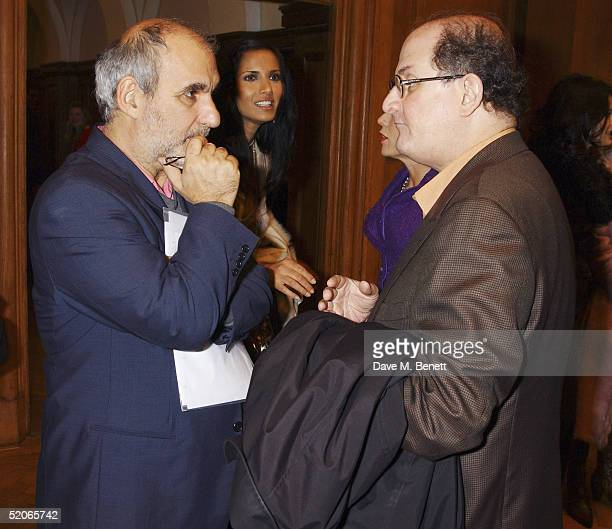Creative Director of the BBC Alan Yentob and writer Salman Rushdie attend the Private View for The Triumph Of Painting at the Saatchi Gallery County...