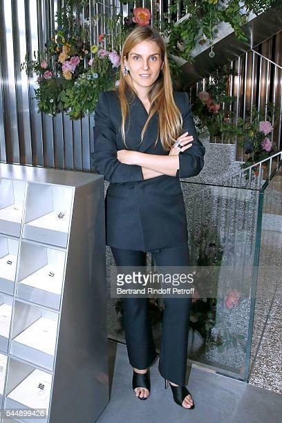 Creative director of the Italian jewellery brand Repossi Gaia Repossi attend the Repossi Vendome Flagship Store Inauguration at Place Vendome on July...