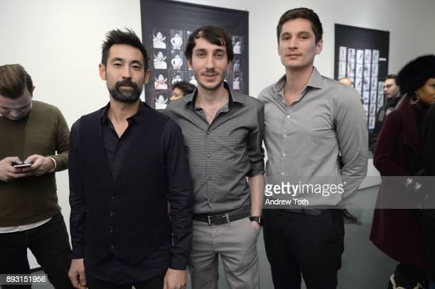 Creative Director of Vero Alistair Stiegmann Robin Vivant and Antoine Lavail attend Robert Whitman Presents Prince 'Pre Fame' Private Viewing Event...