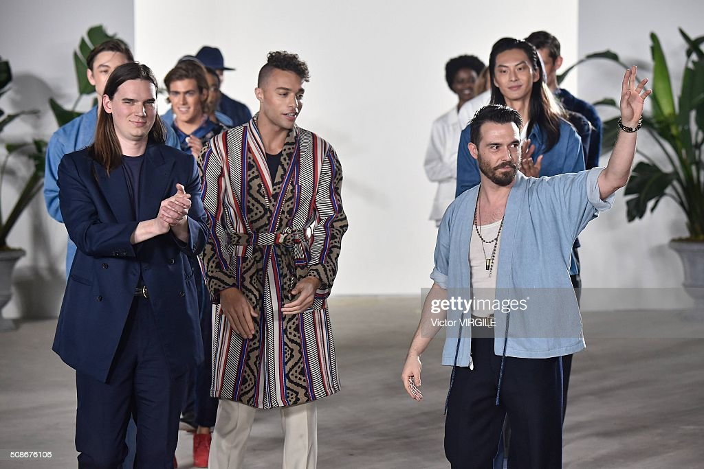 Creative director Shane Fonner walks the runway during the Palmiers du Mal fashion show during New York Fashion Week Men's Fall/Winter 2016 on February 3, 2016 in New York City.