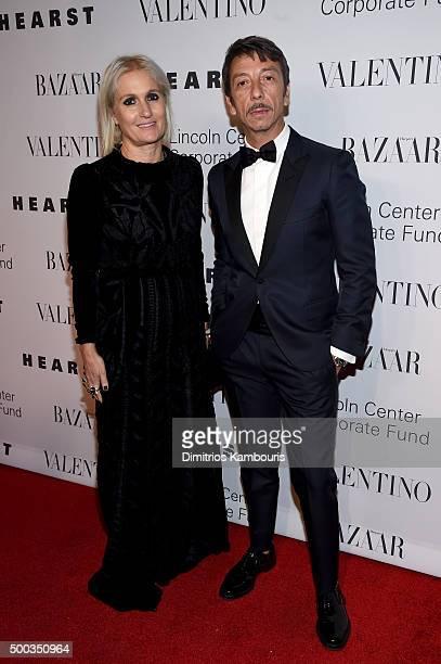 Creative Directors Maria Grazia Chiuri and Pierpaolo Piccioli attend an evening honoring Valentino at Lincoln Center Corporate Fund Black Tie Gala on...