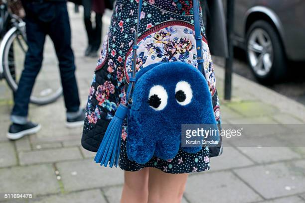 Creative fashion director Sofia Sanchez Barrenechea wears a Mary Katrantzou dress and Anya Hindmarch bag on day 3 during London Fashion Week...
