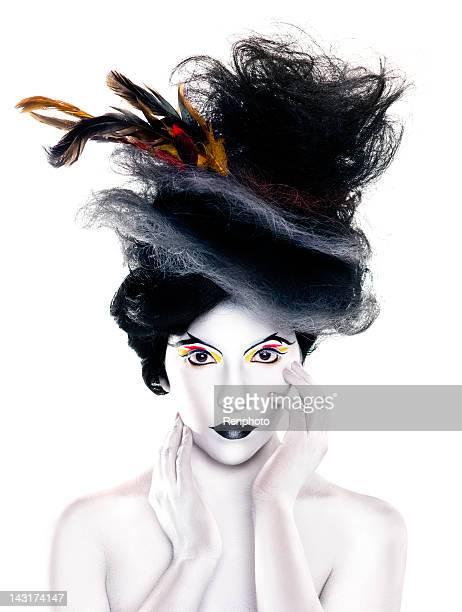 Creative Fashion Portrait: Hat Made of Hair