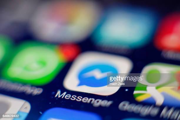Facebook MessengerIcon auf einem auf einem iPhone