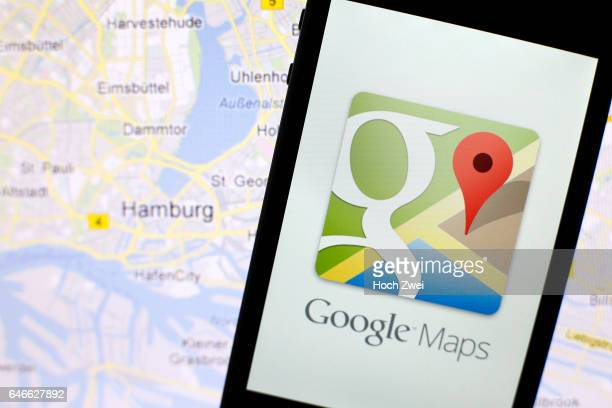 Google Maps iPhone mobile app icon