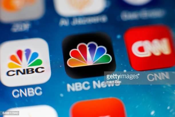 'NBC News'Icon auf einem auf einem iPhone