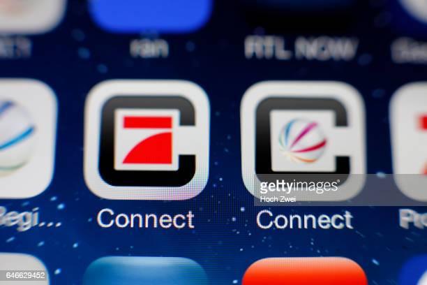 Pro7 und Sat1 ConnectIcon auf einem auf einem iPhone