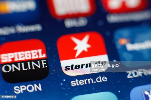 sterndeIcon auf einem auf einem iPhone
