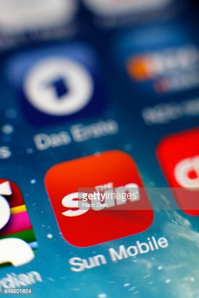 'Sun Mobile'Icon auf einem auf einem iPhone