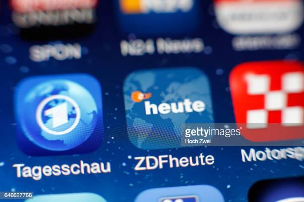 ZDFheuteIcon auf einem auf einem iPhone