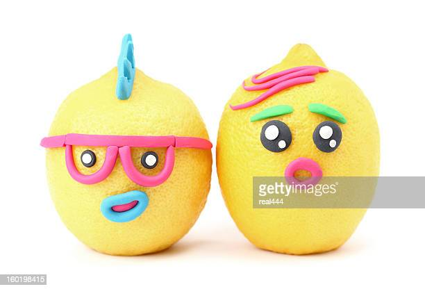 creative fruits and vegetables - anthropomorphic stock pictures, royalty-free photos & images