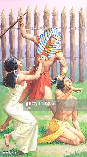 Creative illustration Ancient Egyptian civilization The punishment of the Egyptian slave Ancient Egypt was a civilization of ancient Northeastern...