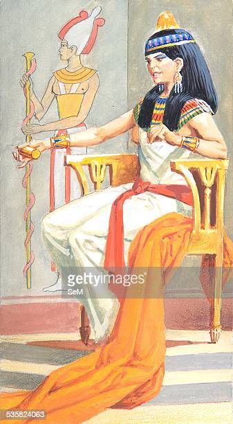Creative illustration Ancient Egyptian civilization The wife of the Pharaoh Ancient Egypt was a civilization of ancient Northeastern Africa...