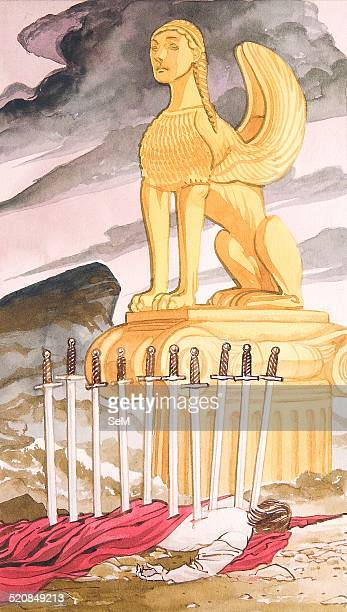 Creative illustration Magic A sphinx is a mythical creature with as a minimum the body of a lion and a human head In Greek tradition it has the...
