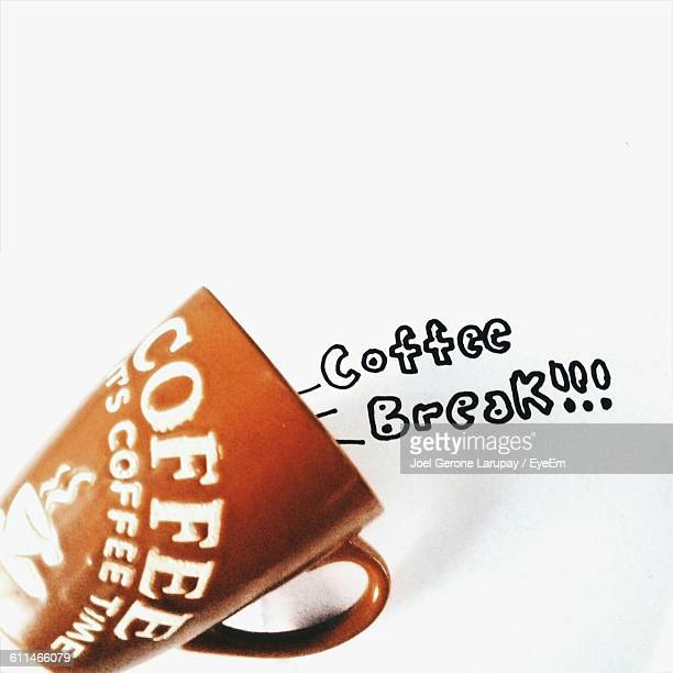 Creative Image Of Coffee Cup With Text On White Paper