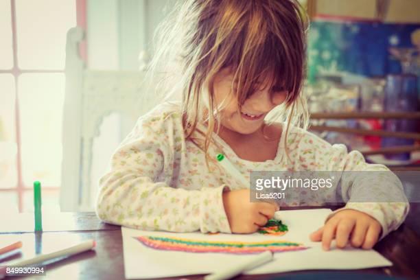 kreative kind - malen stock-fotos und bilder