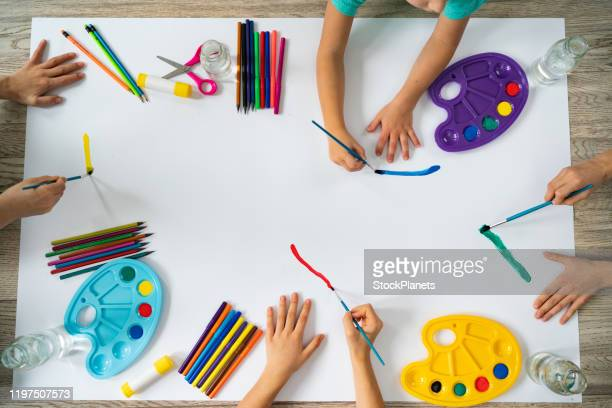 creative kids - art and craft stock pictures, royalty-free photos & images