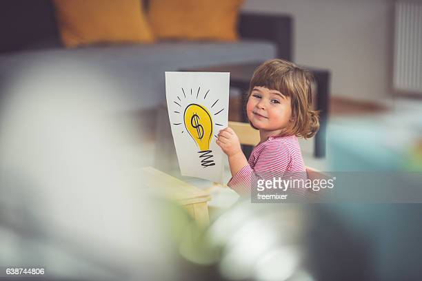 Creative little girl
