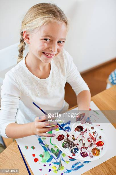creative mess - tempera painting stock pictures, royalty-free photos & images