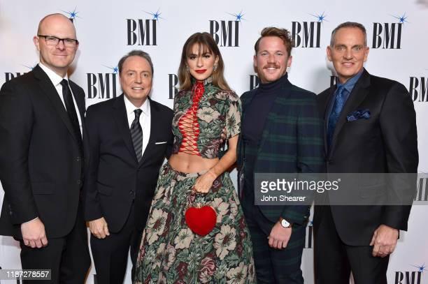 Creative Nation's Brandon Gill BMI Vice President Creative Jody Williams Kassi Ashton Travis Myatt and BMI President/CEO Mike O'Neill attend as BMI...