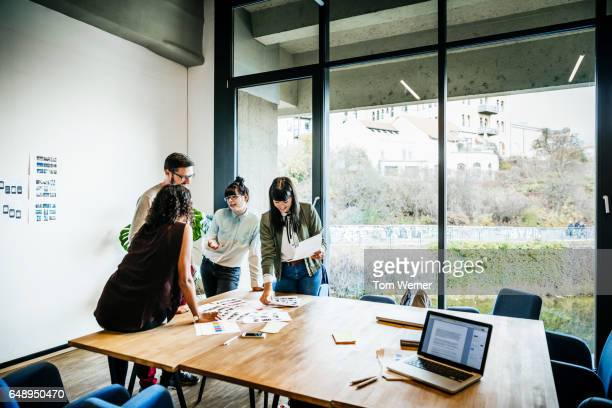 Creative new business people brainstorming for new ideas