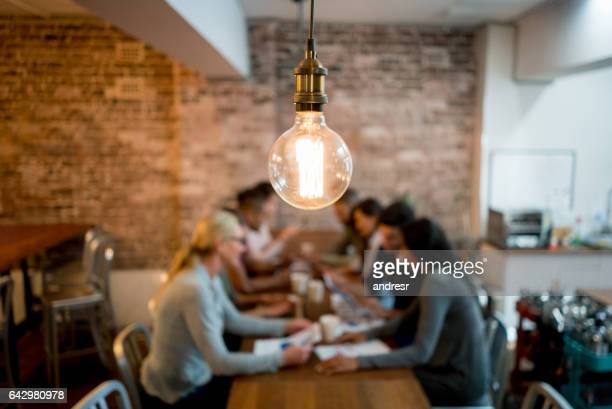 creative office - light bulb stock pictures, royalty-free photos & images