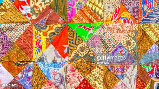 creative patchwork quilts - indonesian cloth 個照片及圖片檔