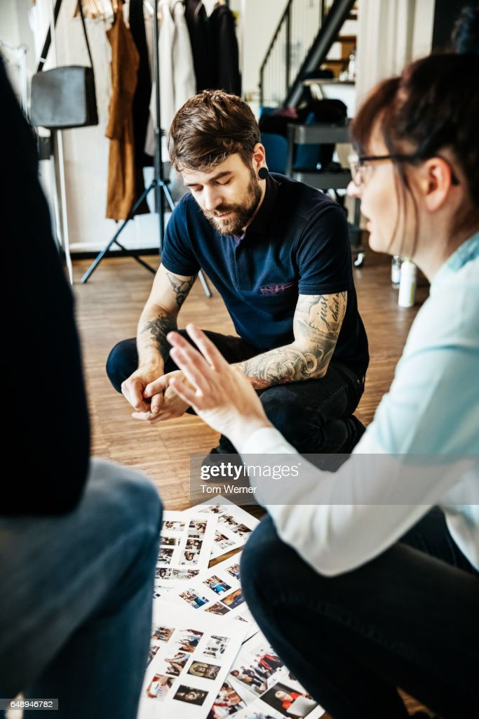 Creative People Brainstorming For Ideas Stock Photo