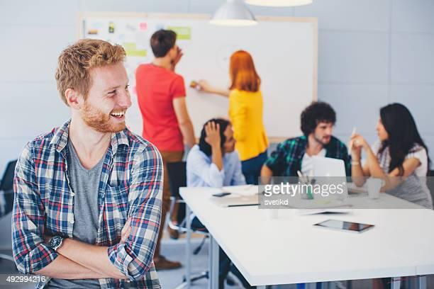 Las personas creativas colaboración.