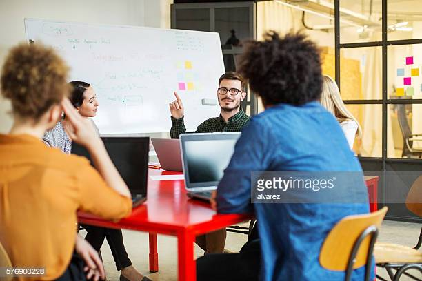 Creative people having a meeting in conference room