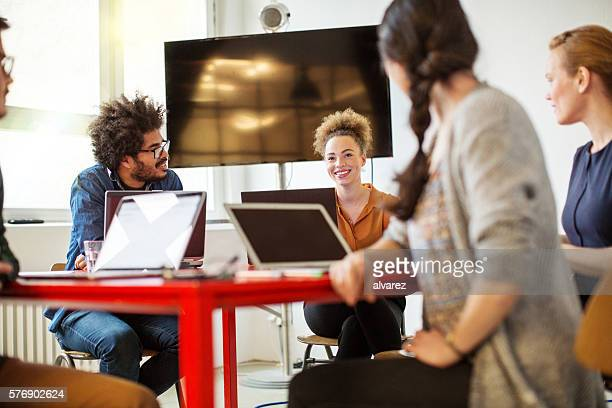 Creative people meeting in conference room