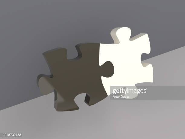 creative picture of puzzle pieces with black and white color match each other. - social movement stock pictures, royalty-free photos & images