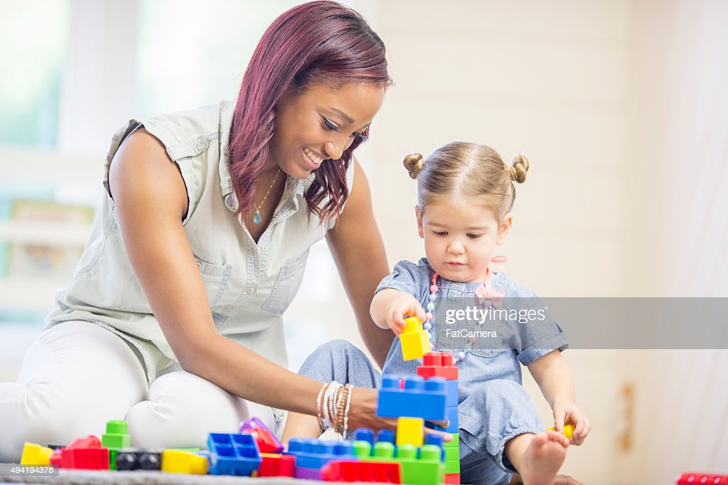 Creative Play at Daycare : Stock Photo