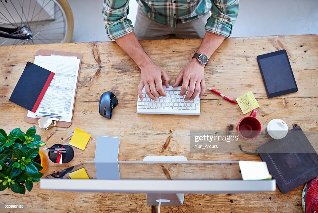Creative professional at work : Stock Photo
